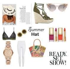 """Untitled #12"" by lexinejackson ❤ liked on Polyvore featuring Eugenia Kim, Tory Burch, GUESS, Topshop, Versace, Burberry, Dolce&Gabbana, Chanel and summerhat"