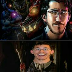 When Markiplier realise that there are terrible monsters behind him.