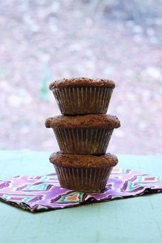 Bob's Red Mill Flaxseed Muffins.  Recipe is also on the back of the bag of Bob's Red Mill Ground Flaxseed Meal.  Recipe on the bag calls for brown sugar.  Attached recipe uses maple syrup.  Either would work.  I also didn't use aluminum free baking soda.  Just what I had on hand.