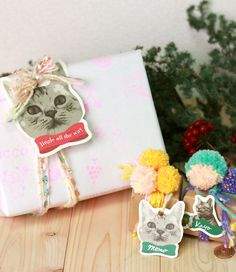 Free Printable Holiday Gift Tags for Cat Lovers
