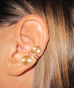 """2 Ear Cuffs Free Shipping US or International Non Pierced """"Double Spiral"""""""