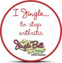 """Make your own """"I Jingle..."""" badge! http://basno.com/c/Arthritis_Foundation"""