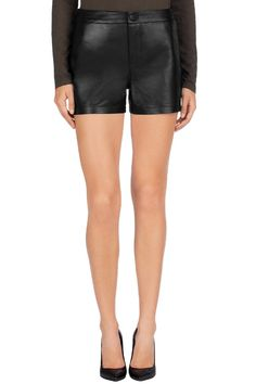 J Brand® | L1037 Leather Mila Short | Black Leather Shorts