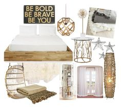 """""""malibu bedroom"""" by annisazatadiny on Polyvore featuring interior, interiors, interior design, home, home decor, interior decorating, Serena & Lily, MASH Studios, Kate Spade and Primitives By Kathy"""