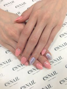 almond nails. Not really a fan, but these are cute!