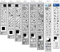 Photoshop Toolbar Evolution