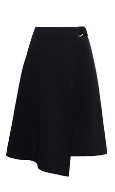 wrap-around belted skirt