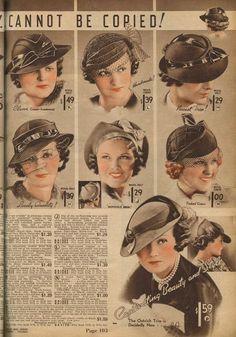 Catalog Sunday: 1930s hats edition