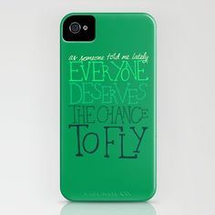 As someone told me lately, everyone deserves the chance to fly.   Defying Gravity from Wicked iPhone Case
