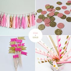 Pink + Gold Party Decor