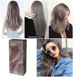 Berina A38 Light Ash Blonde Color Cream Hair Dry Permanent Fashion Style Funk