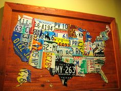 Make a License Plate Map! Just like the one Uncommon Goods has for over 3,000!!