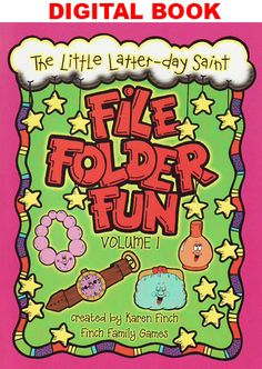 DIGITAL DOWNLOAD - LDS File Folder Games designed for Preschool, Kindergarten, and First Grade aged children. Your children will enjoy learning beginning concepts from colors, numbers, counting, letters, money, matching, visual recognition, and beginning sounds.