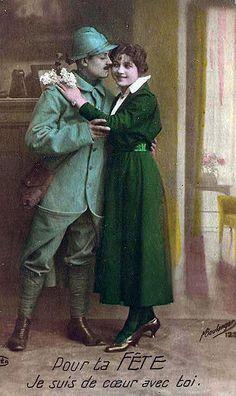 WW I Belgium...Vintage Painting