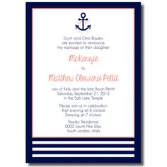Beautiful Wedding Announcements One Sided Colorful Wedding Invitations, Navy Wedding Invitations, Affordable Wedding Invitations, Diy Invitations, Blue Wedding Flowers, Inexpensive Wedding Venues, Wedding Announcements, Wedding Anniversary Gifts, Wedding Cards
