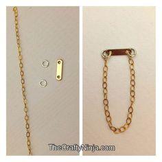 DIY Dainty Chain Ring   The Crafty Ninja