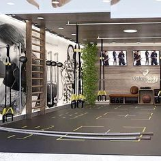 aerobis fitness aerobis fitness equipment Our PRO endless is now being integrated into the VisionBody.official new shop in shop concept for gyms. We think it looks beautiful although they could rethink choice 😜. Kudos to visionbody - Dream Home Gym, Gym Room At Home, Home Gym Decor, Best Home Gym, Home Gyms, Home Gym Garage, Basement Gym, Spa Hammam, Cabinet Medical