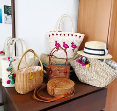 Time to bring out the straw rattan &, wicker bags #springsummer