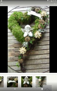 Discover thousands of images about Heart wreath Mehr Grave Flowers, Funeral Flowers, Diy Flowers, Flower Decorations, Funeral Flower Arrangements, Modern Flower Arrangements, Cemetery Decorations, Memorial Flowers, Sympathy Flowers