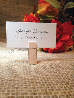Name Cards Wedding Place Cards Wedding by WeddingAffections