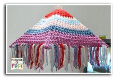 Lámpara / pantalla tejida al crochet paso a paso... (Tutorial)