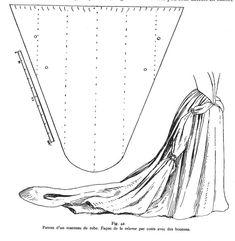 Long train skirt pattern