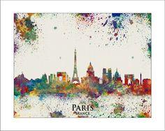Skyline della città di Parigi