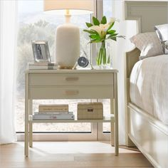 Crestaire - Southridge Bedside Table in Capiz - 436-23-82 - night stand - Stanley Furniture - bedroom - modern furniture