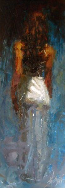 """Original Painting """"Blue Rhapsody"""" by Henry Asencio. Another one of my favorites by him. He's my favorite artist by far."""