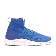 30bbe342021194 Details about Nike Free Flyknit Mercurial 805554-400 Royal Marathon Running  Shoes Men s 11 new