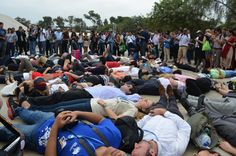"#Climate justice groups stage ""die-in"" at #COP20 in Lima to highlight impacts on vulnerable communities"