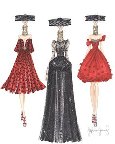 Alexander McQueen Fashion Illustrations by Stephanie Jimenez