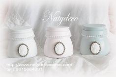 Petit pot peint et relooké par  Natydeco En vente sur http://www.natydecocorse.com