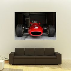 Ferrari 312 Giant Poster Vintage F1 Race Car Huge Print 54x36 Inches