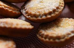 Christmas chocolate mince pies served with Gluhwien
