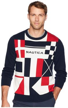 Smart Casual Men, Mens Sweatshirts, Knitwear, Men Sweater, Flags, Long Sleeve, Sweaters, Mens Tops, T Shirt