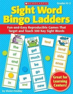 "Mastering the first 300 sight words is easy with these engaging phonics games that put a new twist on bingo! Just reproducible ""ladders"" and your student are ready to play. A super-fun way to to get k"