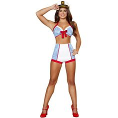 Adult Playful Pinup Sailor Sexy Costume