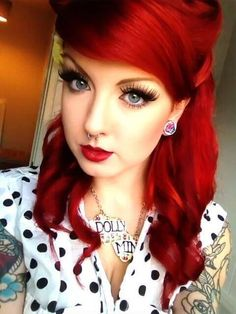 Gorgeous red locks... ~rockabilly, pin up~