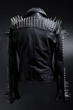 Spikes and Studs Leather Jacket