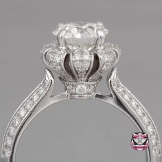 Edwardian Engagement Ring - GIA 1.33ct I/VS Diamond. So cool, looks like a little crown!