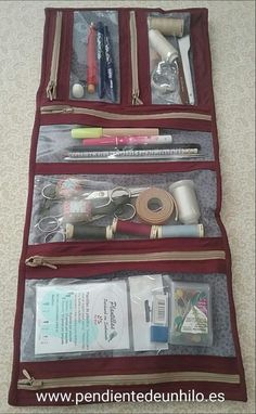 New Sewing Kit Pouch Projects 59 Ideas Easy Sewing Projects, Sewing Projects For Beginners, Sewing Hacks, Sewing Tutorials, Sewing Crafts, Patchwork Bags, Quilted Bag, Sewing Kit, Love Sewing