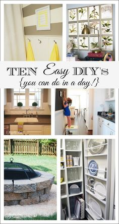 10 Easy Projects to be a Weekend Warrior in your home, low-budget, just a few hours but with big impact.