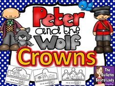 Peter and the Wolf Crowns.  These are SO cute.  I think I'd use them for dramatizing the story of Peter and the Wolf or maybe leave for a sub to use with them.  FUN!