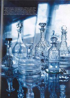 Vintage etched glass for Vintage Wedding Antique Glassware, Antique Bottles, Vintage Bottles, Cut Glass, Glass Art, Glass Etching, Etched Glass, Glass Bottles, Perfume Bottles