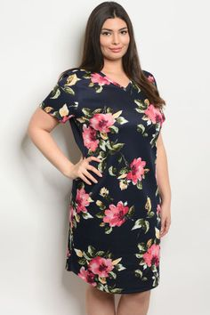 650b6167389d S10-1-3-d59385x navy floral plus size dress 2-2-2