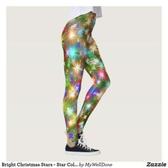 Shop Bright Christmas Stars - Star Colorful Christmas Leggings created by MyWellDone. Milan Fashion Week Street Style, Spring Street Style, Milan Fashion Weeks, Workout Leggings, Women's Leggings, Custom Leggings, Christmas Stars, Xmas, Christmas Leggings