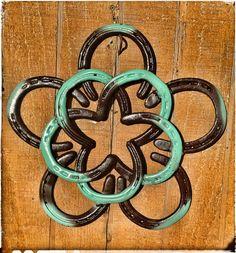 Horseshoe Star Flower Wreath by KadysKustomKrafts on Etsy, $70.00