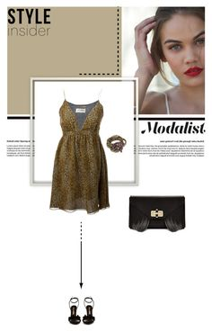 """""""Weekend Style"""" by modalist ❤ liked on Polyvore featuring Yves Saint Laurent, Diane Von Furstenberg, Sophia Webster, Clutch, DVF, bracelet, camidress and weekendfashion"""