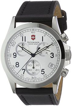 Victorinox Swiss Army Mens 24835 Chrono Pro Silver Dial Watch *** Check this awesome product by going to the link at the image. Army Infantry, Victorinox Swiss Army, Swiss Army Watches, Army Men, Chronograph, Watches For Men, Silver, Edc, Classic